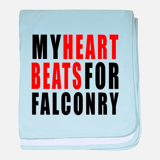 My Hear Beats For Falconry baby blanket