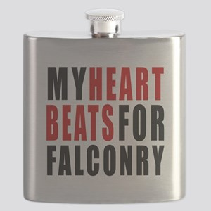 My Hear Beats For Falconry Flask