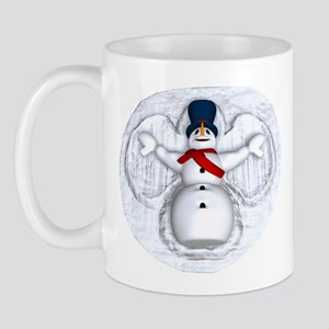 Snowman Snow Angel Mug