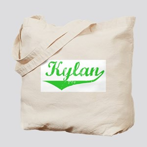 Kylan Vintage (Green) Tote Bag