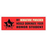 Miniature Pinscher Honor Student Sticker