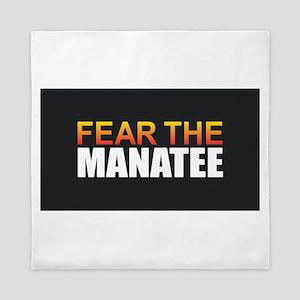Fear the Manatee Queen Duvet