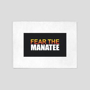 Fear the Manatee 5'x7'Area Rug