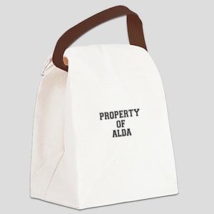 Property of ALDA Canvas Lunch Bag