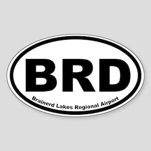Brainerd Lakes Regional Airport Oval Sticker