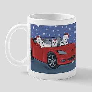 Westie Santa Cruizers Mug
