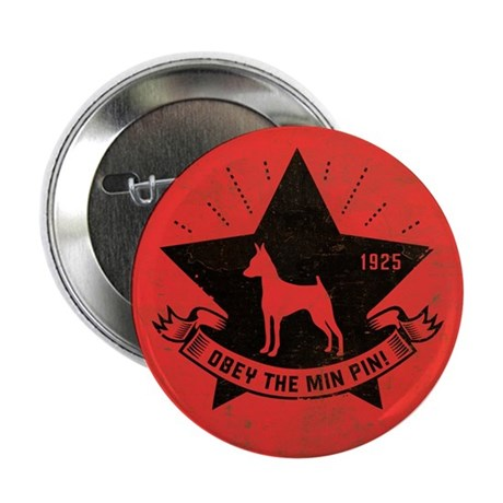 """Obey the Min Pin! Star Icon 2.25"""" Button"""