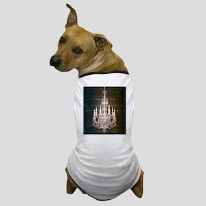 rustic farmhouse barnwood chandelier Dog T-Shirt