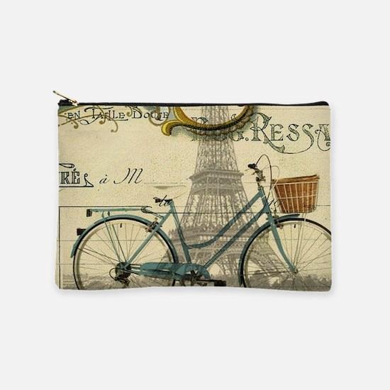 paris bike eiffel tower Makeup Bag