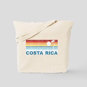 Retro Costa Rica Palm Tree Tote Bag