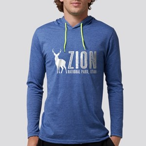Deer: Zion National Park, Utah Mens Hooded Shirt