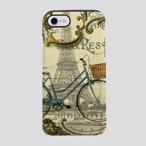 paris bike eiffel tower iPhone 8/7 Tough Case