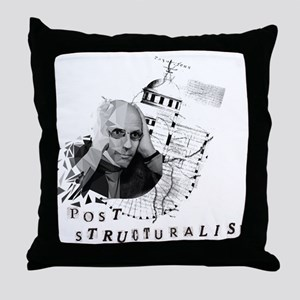 Foucault vs. Post-structuralism Throw Pillow
