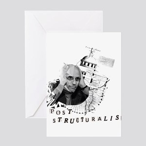 Foucault vs. Post-structuralism Greeting Cards