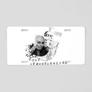 Foucault vs. Post-structura Aluminum License Plate