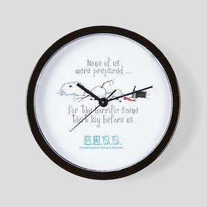 Broken Snowman Wall Clock