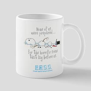 Broken Snowman Mug