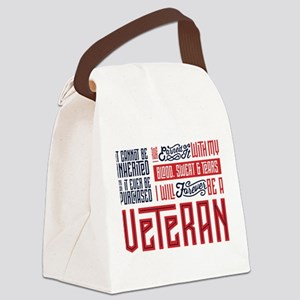I Will Forever be a Veteran Canvas Lunch Bag
