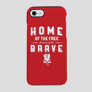 Home of the Free Red iPhone 8/7 Tough Case