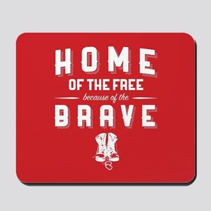 Home of the Free Red Mousepad