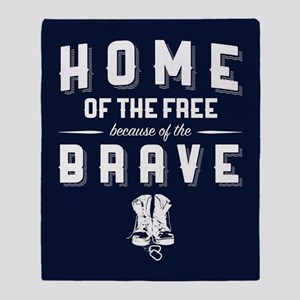 Home of the Free Blue Throw Blanket