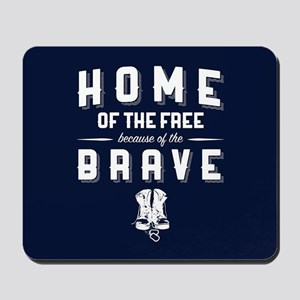 Home of the Free Blue Mousepad