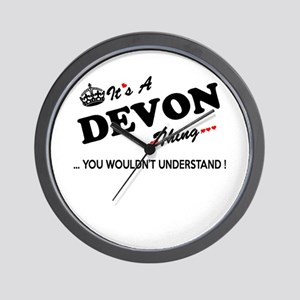 DEVON thing, you wouldn't understand Wall Clock