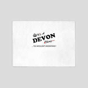 DEVON thing, you wouldn't understan 5'x7'Area Rug