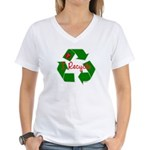 I Recycle Women's V-Neck T-Shirt