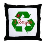 I Recycle Throw Pillow