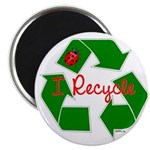 "I Recycle 2.25"" Magnet (100 pack)"