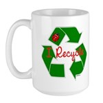 I Recycle Large Mug