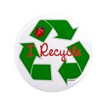 "I Recycle 3.5"" Button"