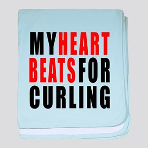 My Hear Beats For Curling baby blanket