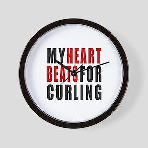 My Hear Beats For Curling Wall Clock