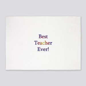 Best Teacher Ever 5'x7'Area Rug