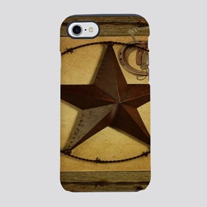 barn wood texas star western iPhone 8/7 Tough Case