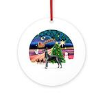 Xmas Magic & Great Dane Ornament (Round)