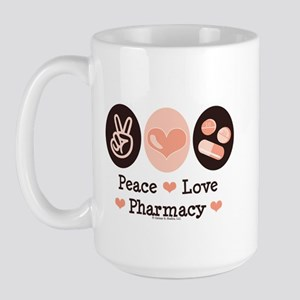 Peace Love Pharmacy Pharmacist Large Mug