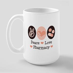 Peace Love Pharmacy Pharmacist Large Mug