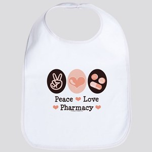 Peace Love Pharmacy Pharmacist Bib