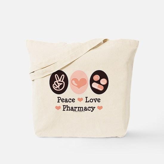 Peace Love Pharmacy Pharmacist Tote Bag