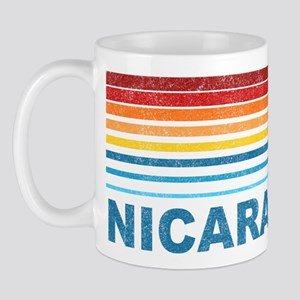 Retro Nicaragua Palm Tree Mug