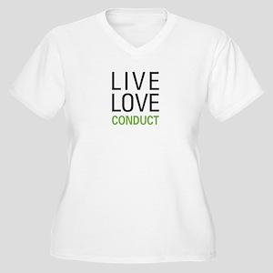 Live Love Conduct Women's Plus Size V-Neck T-Shirt
