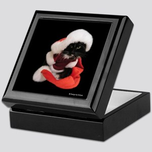 Charistmas Santa Cat Keepsake Box