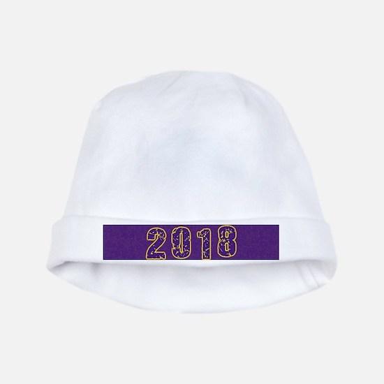 2018 Purple Gold Baby Hat