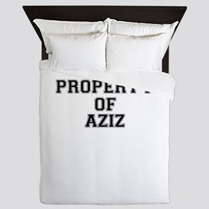 Property of AZIZ Queen Duvet
