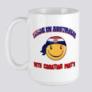 Made in Australia with Croatian part's Large Mug