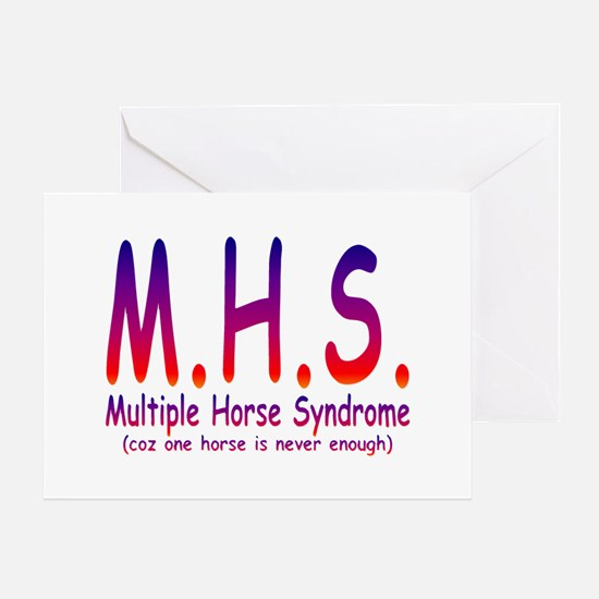 Multiple Horse Syndrome Greeting Card