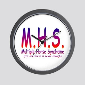 Multiple Horse Syndrome Wall Clock